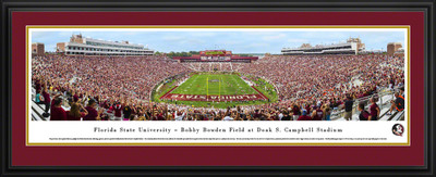 FSU Seminoles Panoramic Photo Deluxe Matted Frame - End Zone | Blakeway | FSU4D