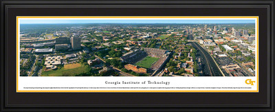 Georgia Tech Yellow Jackets Panoramic Photo Deluxe Matted Frame - Aerial View