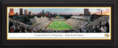 Georgia Tech Yellow Jackets Panoramic Photo Deluxe Matted Frame - End Zone