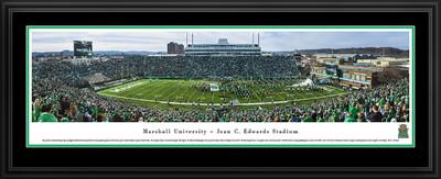 Marshall Thundering Herd Panoramic Photo Deluxe Matted Frame - 50 Yard Line