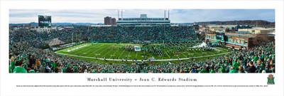 Marshall Thundering Herd Panoramic Photo Print - 50 Yard Line