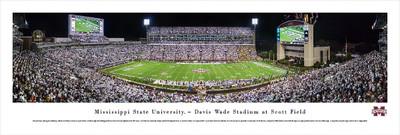 Mississippi St. Bulldogs Panoramic Photo Print - 50 Yard Line