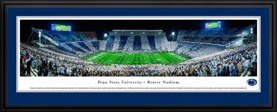 Penn State Nittany Lions Panoramic Photo Deluxe Matted Frame - 50 Yard Line