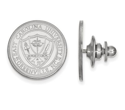 East Carolina Pirates Crest Sterling Silver Lapel Pin