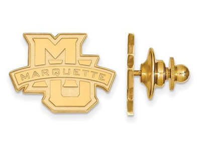 Marquette Golden Eagles Sterling Silver Gold Plated Crest Lapel Pin