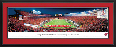 Wisconsin Badgers Panoramic Photo Deluxe Matted Frame - End Zone | Blakeway | UWI4D