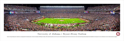 Alabama Crimson Tide Panoramic Photo Print - 50 Yard Line