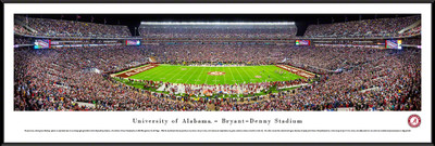 Alabama Crimson Tide Standard Frame Panoramic Photo - 50 Yard Line