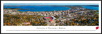 Wisconsin Badgers Standard Frame Panoramic Photo - Aerial View