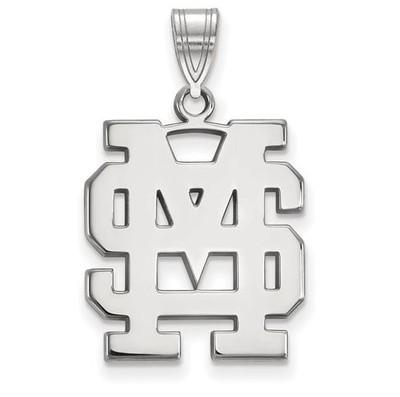 Mississippi State University Sterling Silver Large Pendant