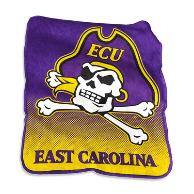 East Carolina Pirates Logo  Raschel Throw Blanket