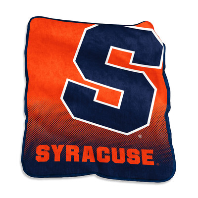 Syracuse Orange Logo  Raschel Throw Blanket