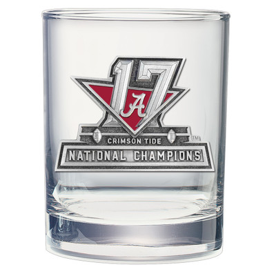 2017 National Champions Alabama Crimson Tide Cocktail Glasses (set of two) | Heritage Pewter | DOF11088E