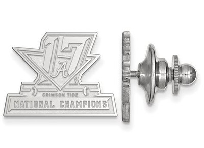 2017 National Champions Alabama Crimson Tide Sterling Silver Lapel Pin
