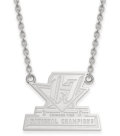 2017 National Champions Alabama Crimson Tide Sterling Silver LG Pendant Necklace