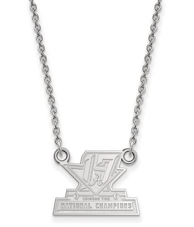 2017 National Champions Alabama Crimson Tide Sterling Silver Small Pendant Necklace