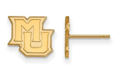 Marquette University 10k Yellow Gold Extra Small Post Earrings