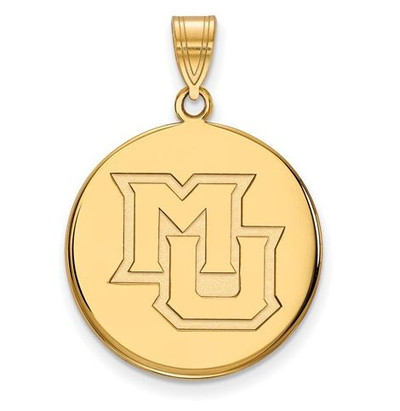 Marquette University 10k Yellow Gold Large Disc Pendant