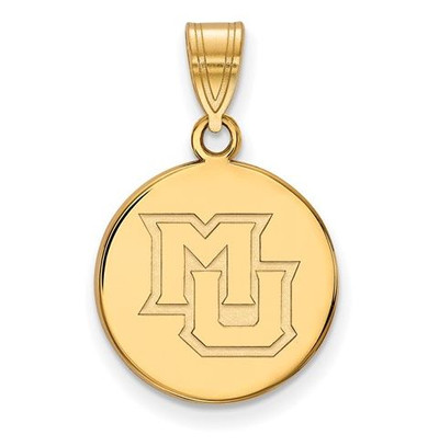 Marquette University 14k Yellow Gold Medium Disc Pendant