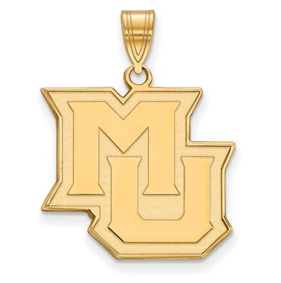 Marquette University 10k Yellow Gold Large Pendant