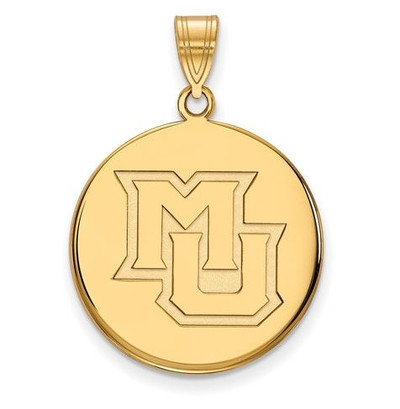 Marquette University 14k Yellow Gold Large Disc Pendant
