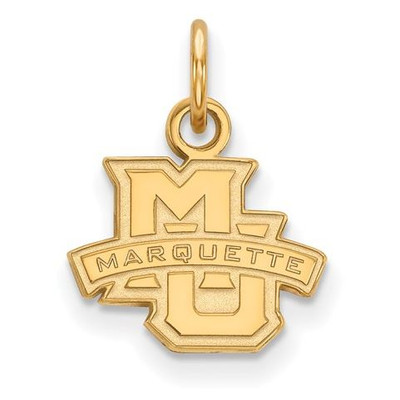 Marquette University 10k Yellow Gold Extra Small Pendant