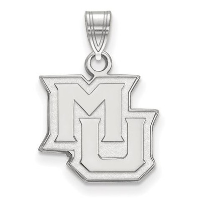 Marquette University 14k White Gold Small Pendant