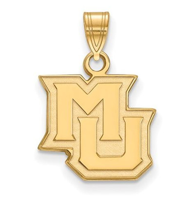 Marquette University 14k Yellow Gold Small Pendant