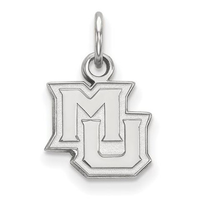 Marquette University 10k White Gold Extra Small Pendant