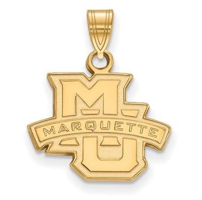 Marquette University Golden Eagles 10k Yellow Gold Small Pendant | Logo Art | 1Y002MAR