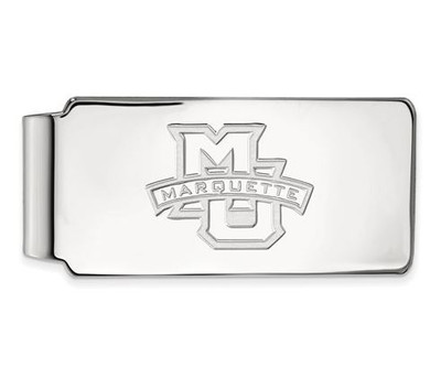 Marquette University 14k White Gold Money Clip