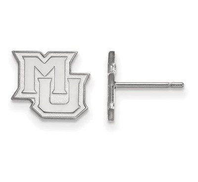 Marquette University 14k White Gold Extra Small Post Earrings