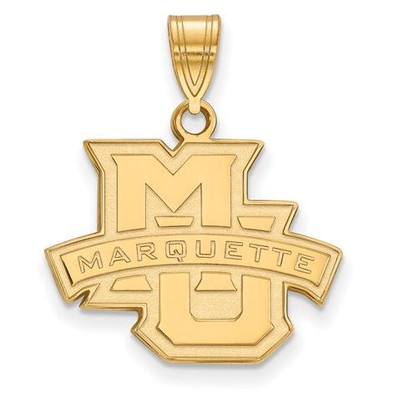 Marquette University 14k Yellow Gold Medium Pendant