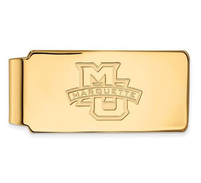 Marquette University 14k Yellow Gold Money Clip