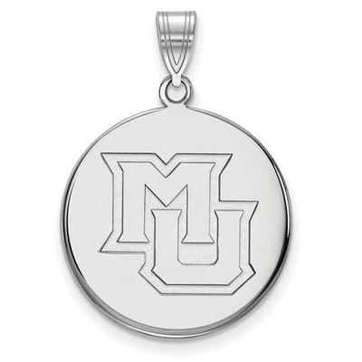 Marquette University 10k White Gold Large Disc Pendant