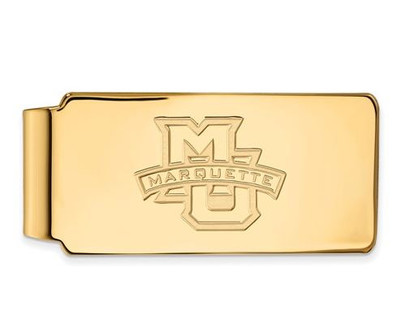 Marquette University 10k Yellow Gold Money Clip