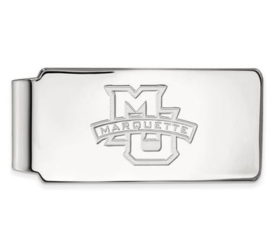 Marquette University 10k White Gold Money Clip