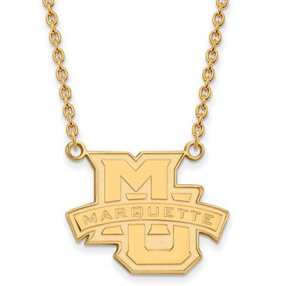 Marquette University 10k Yellow Gold Large Pendant Necklace