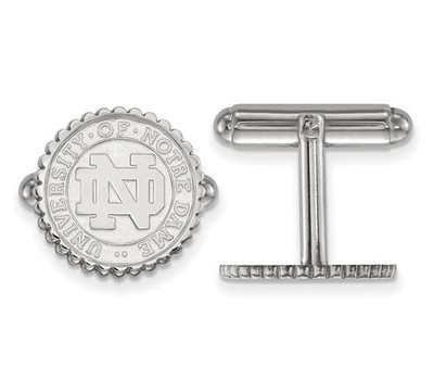 University of Notre Dame Sterling Silver Crest Cuff Links | Logo Art | SS069UND