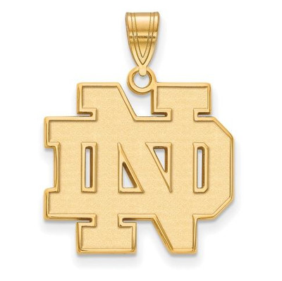 University of Notre Dame Fighting Irish Gold Plated Sterling Silver Large Pendant