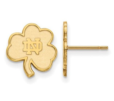 Notre Dame Fighting Irish Gold Plated Sterling Silver Extra Small Post Earrings
