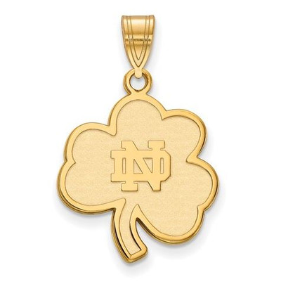 Notre Dame Fighting Irish Gold Plated Sterling Silver Large Pendant