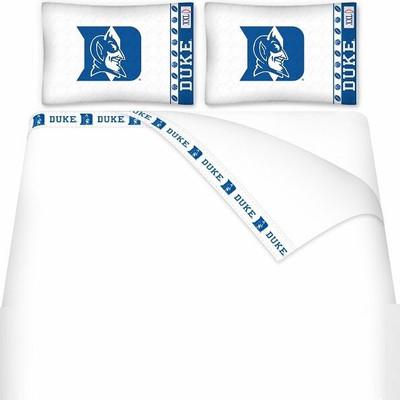 Duke Blue Devils Microfiber Sheet Set