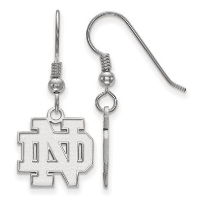 University of Notre Dame Fighting Irish Sterling Silver Small Wire Dangle Earrings