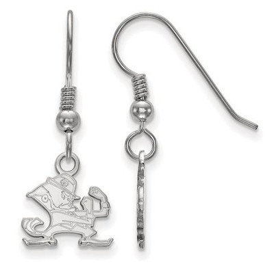 University of Notre Dame Fighting Irish Sterling Silver Extra Small Wire Dangle Earrings