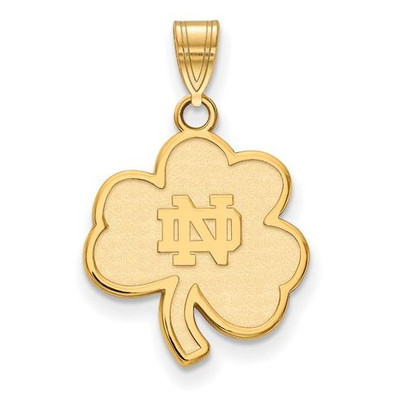 University of Notre Dame Fighting Irish Gold Plated Sterling Silver Medium Pendant
