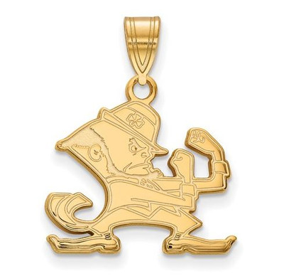 Notre Dame Fighting Irish Gold Plated Sterling Silver Medium Pendant