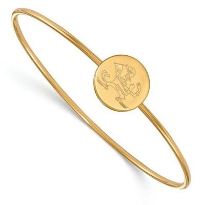 University of Notre Dame Gold Plated Sterling Silver Bracelet