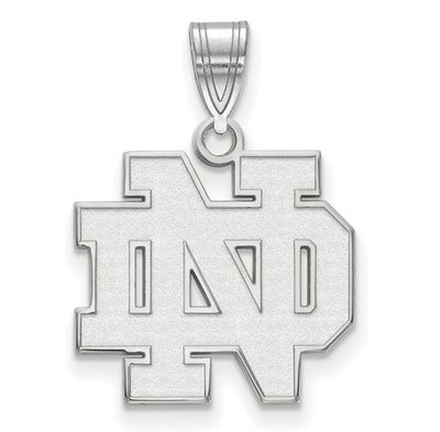 Notre Dame Fighting Irish Sterling Silver Medium Pendant