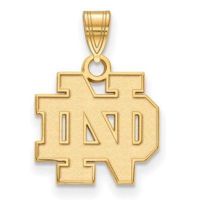 University of Notre Dame Fighting Irish Gold Plated Sterling Silver Small Pendant